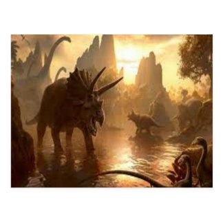 ancient dinosaur post cards
