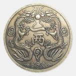 Ancient Dragon Classic Round Sticker