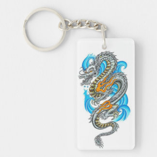 Ancient Dragon Single-Sided Rectangular Acrylic Keychain