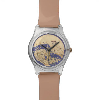 Ancient Earth Map Design Watch