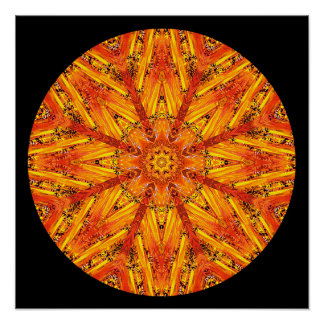 Ancient Echoes Crystal Mandala Poster