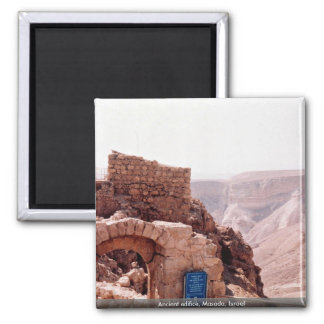 Ancient edifice, Masada, Israel Magnet