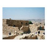 Ancient edifice, Masada, Israel Postcard