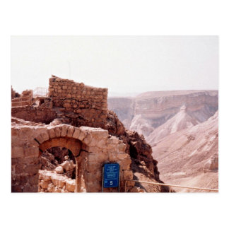 Ancient edifice, Masada, Israel Post Card