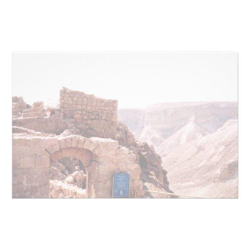 Ancient edifice, Masada, Israel Custom Stationery