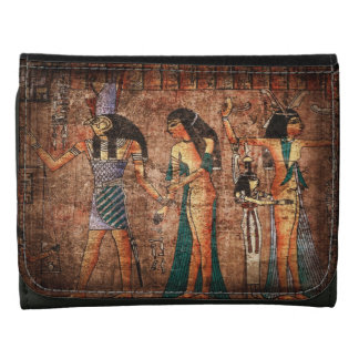 Ancient Egypt 4 Leather Trifold Wallets