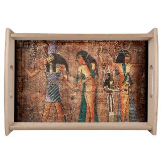 Ancient Egypt 4 Serving Platters