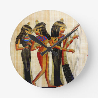 Ancient Egypt 7 Round Clock