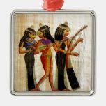 Ancient Egypt 7 Square Metal Christmas Ornament