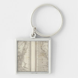 Ancient Egypt, Ancient Greece Silver-Colored Square Keychain