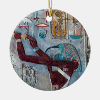 Ancient Egypt Art: Ibis Hieroglyphics Ornament