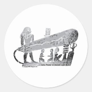 Ancient Egypt Dendera Lightbulb or lotus flower? Sticker