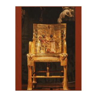 Ancient Egypt Egyptian Golden Royal Chair Wall Art