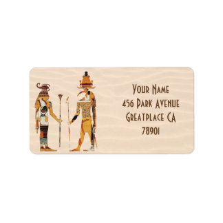 Ancient Egypt Gods Address Label