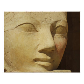 Ancient Egypt Hatshepsut statue temple travel Poster