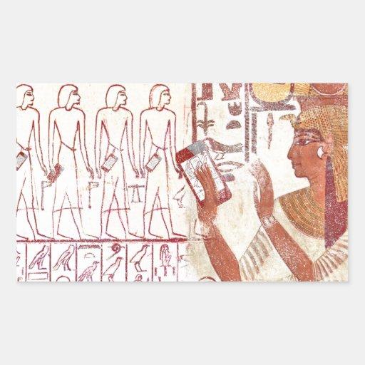 Ancient Egypt smartphones Rectangular Stickers