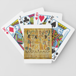 Ancient Egypt Tapestry Scroll Heirogliphics Bicycle Playing Cards