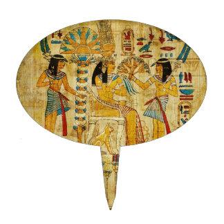 Ancient Egypt Tapestry Scroll Heirogliphics Cake Topper