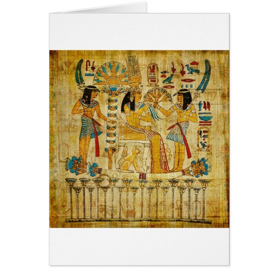 Ancient Egypt Tapestry Scroll Heirogliphics Card
