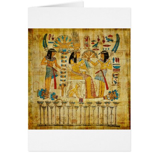 Ancient Egypt Tapestry Scroll Heirogliphics Cards
