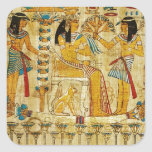 Ancient Egypt Tapestry Scroll Heirogliphics Square Sticker