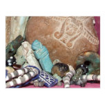 Ancient Egyptian amulets and beads Postcard