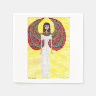 Ancient Egyptian Angel Paper Napkin