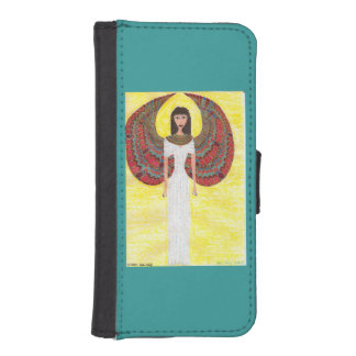 Ancient Egyptian Angel Wallet Phone Case For iPhone SE/5/5s