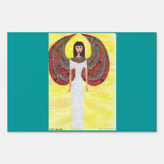 Ancient Egyptian Angel Yard Sign