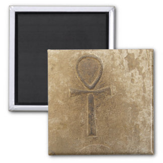 Ancient Egyptian Ankh, Key of Life 2 Inch Square Magnet