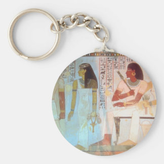Ancient Egyptian Art Basic Round Button Keychain