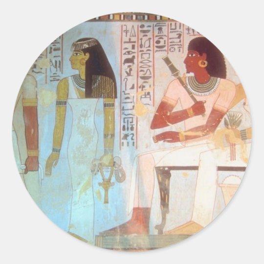 Ancient Egyptian Art Classic Round Sticker