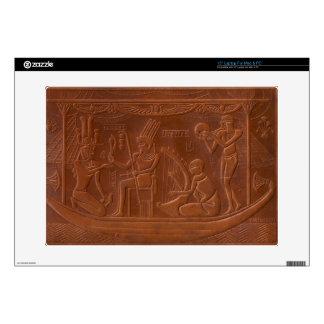 "Ancient Egyptian Art Deco Pharaoh Scene Decal For 15"" Laptop"