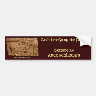 Ancient Egyptian Art Relief on Faux Papyrus Bumper Sticker