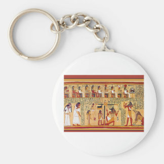 Ancient Egyptian Book of the Dead. Key Chain