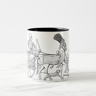 Ancient Egyptian Chariot Two-Tone Coffee Mug