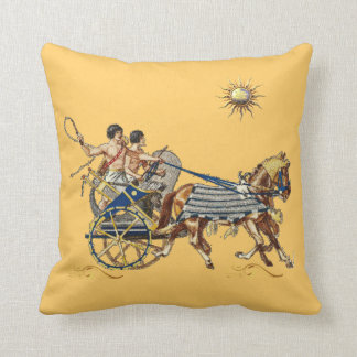 Ancient egyptian chariots 3 throw pillow