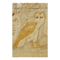 Ancient Egyptian Egypt Owl hieroglyph Stationery