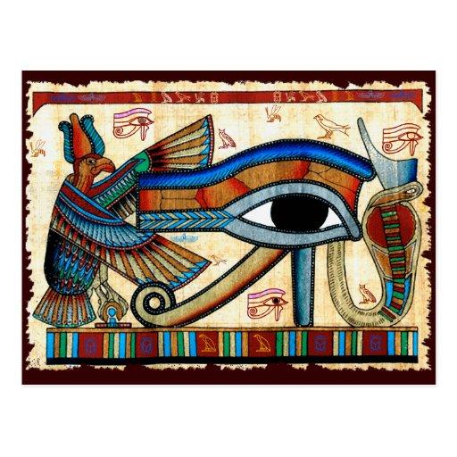 Ancient Egyptian EYE OF HORUS Wadjet Postcard