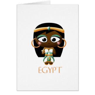 Ancient Egyptian Girl Card