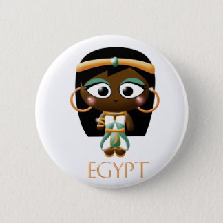 Ancient Egyptian Girl Pinback Button
