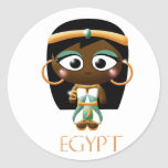 Ancient Egyptian Girl Round Sticker