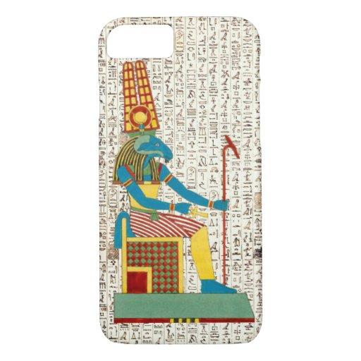 Ancient Egyptian God Amun Hieroglyphics Design Cas iPhone 8/7 Case