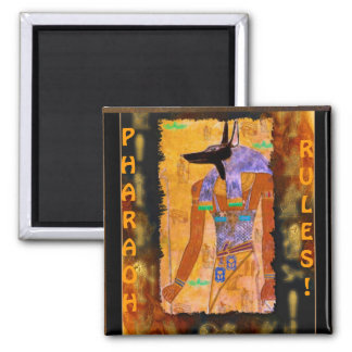 Ancient Egyptian God Anubis Gift Range 2 Inch Square Magnet