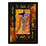 Ancient Egyptian God Anubis Gift Range Greeting Card