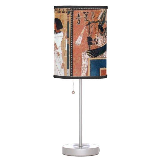 Ancient Egyptian God Black Osiris Table Lamp Zazzle Com