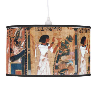 Ancient Egyptian God Osiris Black Pendant Lamp