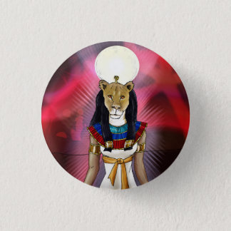 Ancient Egyptian Goddess Sekhmet Pinback Button