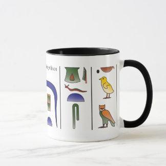 Ancient Egyptian Hieroglyphics Mug