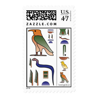 Ancient Egyptian Hieroglyphics Stamp